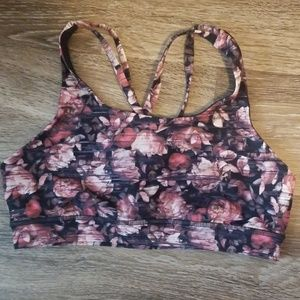 Gently worn Lululemon floral energy bra